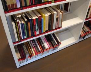 Bøker på nederste hylle